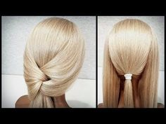 A quick hairstyle made of elastic bands for yourself. Dance Hairstyles, Quick Hairstyles, Braided Hairstyles, Wedding Hairstyles, Medium Hair Styles, Curly Hair Styles, Underlights Hair, Bridal Hair Inspiration, Corte Y Color