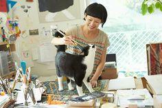 絵本作家・ミロコマチコ × ソト&ボウ — 命は繋がっていく Photo:Kazuho Maruo  (via ilove.cat)