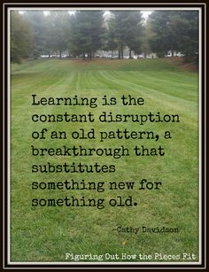 Quote about Learning breaking Old Patterns www.melissaedwards.org