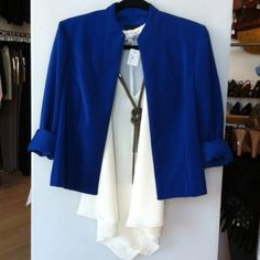 Structured Cobalt Blue Blazer Jacket Stunning bright cobalt blue blazer that is a perfect staple for your wardrobe. Looks amazing with jeans and a tee or dressed up. In great condition and fits true to small. Jackets & Coats Blazers