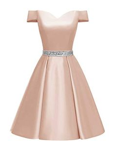 Changuan Women's Short Beaded Prom Dresses Off The Shoulder Backless Homecoming Dress Short Graduation Dresses, Backless Homecoming Dresses, Beaded Prom Dress, Special Dresses, Cute Dresses, Short Dresses, Girls Dresses, Wedding Reception Guest Outfits, Birthday Dresses