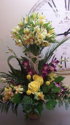 Alstromeria Centerpiece or floral arrangement for home accent or party