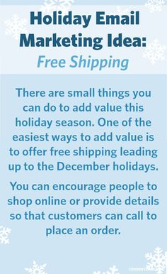 #Holiday #Email Marketing Idea: Offer your customers free shipping!
