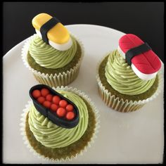 Sushi   Fondant   Cupcake