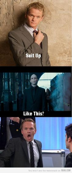 Never thought I would get a laugh out of how I met your mother and harry potter