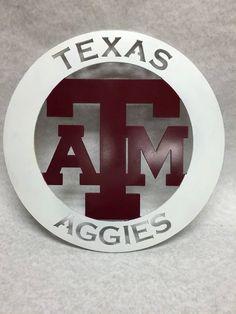 Texas Aggies // Metal Sign by RedDoorLaserGraphics on Etsy