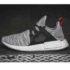 bc880c0981f Adidas NMD XR1 Gray Black Sneakers 10.5 Boost Lace Up S76852