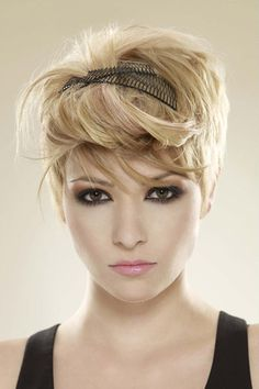 Blonde Crop Cut with Clips as Accessories