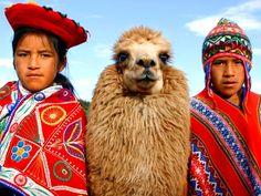 Children walking their llama home, Cusco, Peru Alpacas, Machu Picchu, Bolivia, Travel Around The World, Around The Worlds, Lac Titicaca, Equador, Argentine, Peru Travel