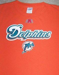 Miami DOLPHINS NFL Football Shirt Adult Medium Orange AFC Florida Hard Rock Stad #Unknown #MiamiDolphins