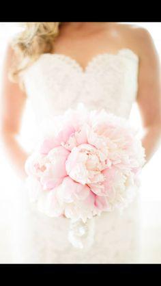 Gorgeous soft pink. Simple but elegant bouquet.