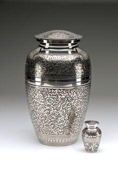 Caskets Direct Pty Ltd - Silver Oak Leaf Cremation Urn, $220.00 (http://www.casketsdirect.com.au/products/cremation-urns-silver-oak-leaf-cremation-urn.html)