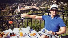 Sit back and relax with NCIS Michael Weatherly Father's Day breakfast in France