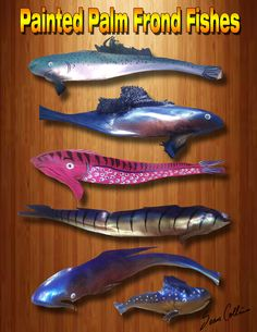 Painted Palm Frond Fish by Sean Collins