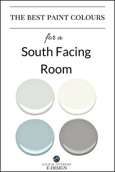 Best paint colour for south facing, southern exposure bright room. Kylie M E-design, colour expert online