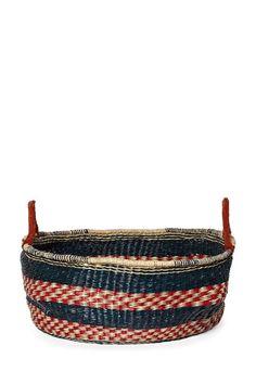 Large Blue & Red Basket