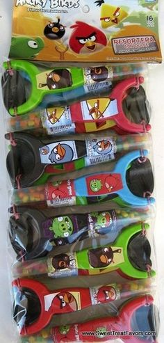 ANGRY BIRDS Candy Favors x16 Party Supplies Birthday Sling Shot Gift Treats Red | eBay