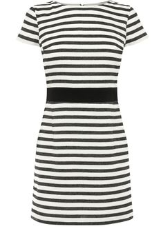 We heart this stripe dress in a textured boucle fabric.