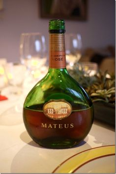 Mateus Rose from Portugal. Now this brings back memories of my parents dinner parties.
