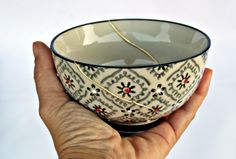 Kintsugi, Serving Bowls, Tableware, Dinnerware, Tablewares, Dishes, Place Settings, Mixing Bowls, Bowls