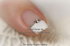 Weddbook is a content discovery engine mostly specialized on wedding concept. You can collect images, videos or articles you discovered  organize them, add your own ideas to your collections and share with other people - Gold and White Wedding. Manicure, Pedicure, Nails. Gelish Wedding Manicure with Swarovski crystals www.funkyfingersfactory.com