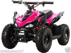 New Outdoor Kids Ride On V2 Pink Mini Quad ATV Dirt Motor Bike Electric Battery