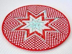 Салфетка в технике лоскутное шитье