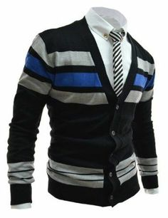 3de5cbabd TheLees Mens Casual Colorful Knit Cardigan 10 Types Well Dressed Men