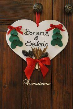 Decorazione natalizia cuore in legno personalizzato di Decartema