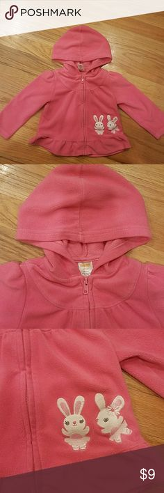 Gymboree sweater 2t-3t Pink with bunnies fleece zip up. Good condition. Gymboree Shirts & Tops Sweaters