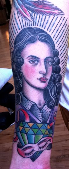 I want a Frida Kahlo Tattoo in this style. Sara Shor.