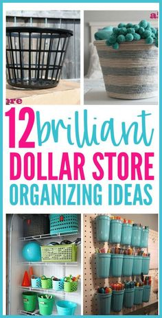 Looking for organizing ideas on a budget? Then check out these 12 dollar store organizing ideas! #dollarstoreorganizing #dollarstoreorganization #dollarstoreorganizinghacks #organizinghacks #organization #organizing #dollarstore #organizingideas Astuces Dollar Store, Dollar Store Hacks, Dollar Stores, Dollar Dollar, Organisation Hacks, Organizing Hacks, Diy Hacks, Tupperware Organizing, Organization Station