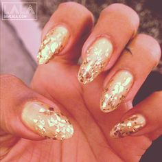 All Gold Everything... | #nails #gold | via @lala