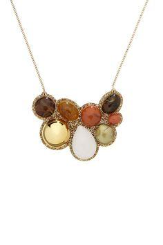 Kaleidoscope Stone Necklace - Amber