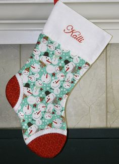 Christmas Stockings personalized with by UniqueByLiselle on Etsy, $35.00
