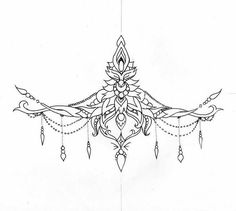 Sternum tattoo idea More