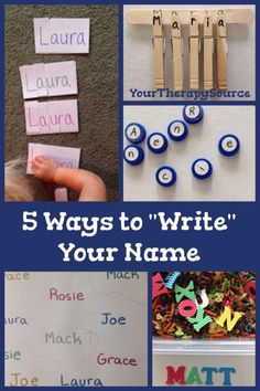 Sometimes children are not ready to actually form the letters of their name properly so rather than start bad habits, try out activities that establish name recognition.