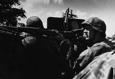 Wiking Division soldiers pursue Soviet attackers in their Sd. 251 armored vehicle in Eastern Poland, July Luftwaffe, Germany Ww2, German Uniforms, War Image, National Archives, German Army, Panzer, World War Two, Division