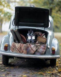 Picnic Style, Vintage Car