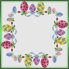 Cross Stitching, Cross Stitch Embroidery, Cross Stitch Patterns, Chicken Cross Stitch, Easter Table, Easter Eggs, Easter Cross, Cross Stitch Flowers, Happy Easter