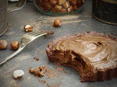 Raw Chocolate Tarts with Hazelnut Crust  #ChocolateInfusedEscapades
