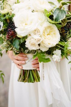 Modern Romantic California Wedding - bridal bouquet; Shane and Lauren Photography