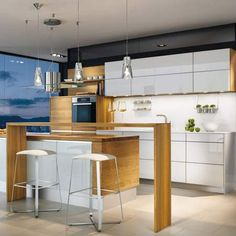 Team 7 kitchens offer exquisite, natural wood kitchens that lead the industry in innovation, strength & beauty. To learn more about the unmatched beauty & quality of Team 7 kitchens, call us or visit our website today. High End Kitchen Cabinets, European Kitchen Cabinets, European Kitchens, High End Kitchens, Kitchen Mirrors, Small Kitchens, Dream Kitchens, Kitchen Island, Luxury Kitchen Design