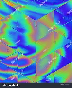 Oil Water Sheen Triangle Pattern
