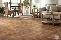 Hardwood? No, it's our stunning wood-look porcelain – Cashew from our Botanica series! This gorgeous tile has rich browns and distinctive wood grains – perfect for the wall, countertop, and flooring. #tiletuesday