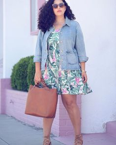 Pin for Later: 46 Stylish Outfits That Dare You to Ditch the Color Black Be Bold in a Tropical-Printed Dress