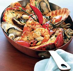 Sweet Paprika Seafood Stew and my First Anniversary Seafood Stew, Seafood Dishes, Fish And Seafood, Portuguese Recipes, Portuguese Food, Fish Stew, Pasta, Recipe Details, Mediterranean Recipes