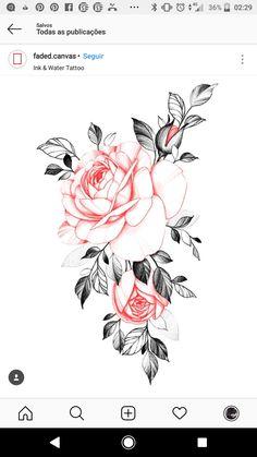 Dope Tattoos, Body Art Tattoos, Girl Tattoos, Flower Tattoo Designs, Flower Tattoos, Flower Designs, Tattoo Studio, Flower Sleeve, Coffin Shape Nails