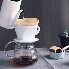 Kalita Hasami Dripper  We're proud to have this beautiful dripper in our store crafted by artisans of Hasamiyaki- traditional porcelain method that originates four centuries ago in the Hasami town Nagasaki prefecture.
