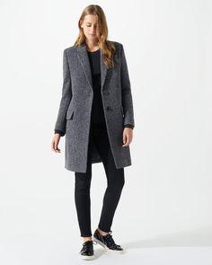 Herringbone City Coat
